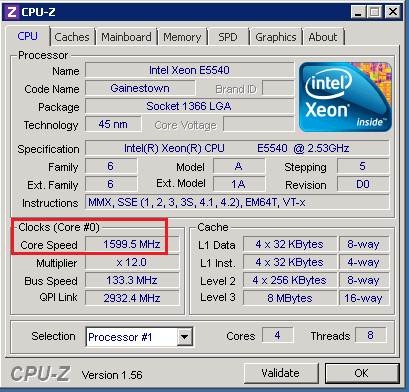 Another Example of CPU Throttling Due to Balanced Power Plan